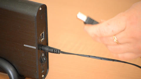 Plugging In And Turning On External Hard Drive Footage