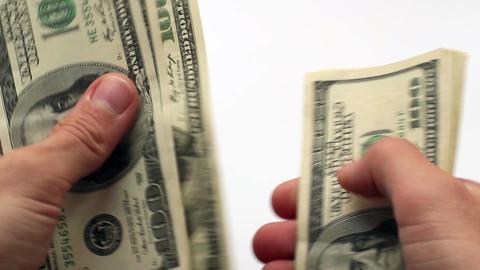 Counting Dollar Bills Footage