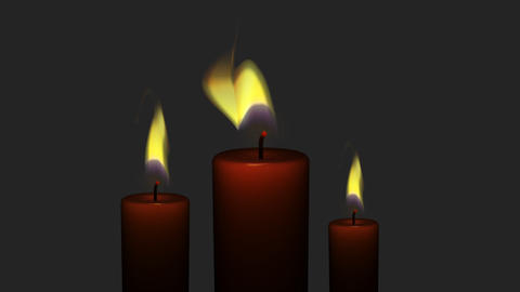 Fire Candles 3 in 1 Footage