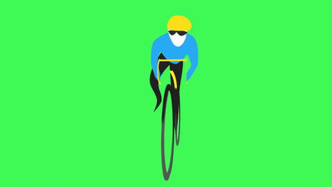 Cyclist Loop 2 CG動画素材