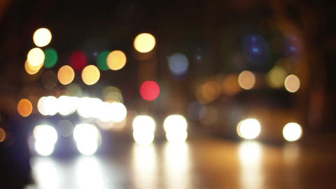 Defocused night traffic lights 영상물