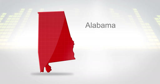 Motion Graphics 3D animation of the american state of Alabama Animation