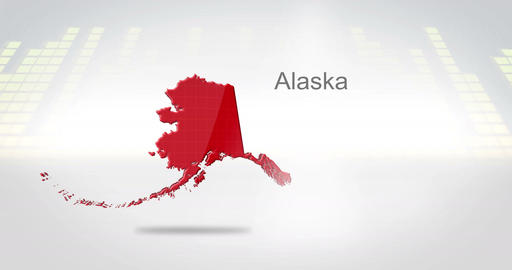Motion Graphics 3D animation of the american state of Alaska Animation