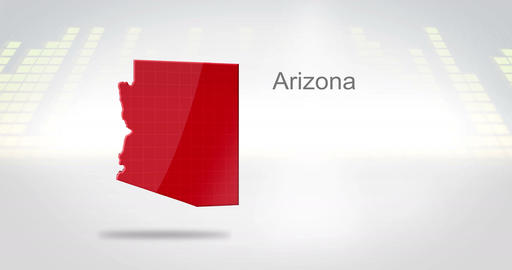 Motion Graphics 3D animation of the american state of Arizona Animation