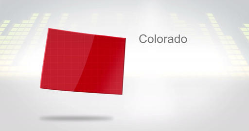 Motion Graphics 3D animation of the american state of Colorado Animation