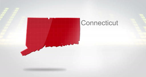 Motion Graphics 3D animation of the american state of Connecticut Animation