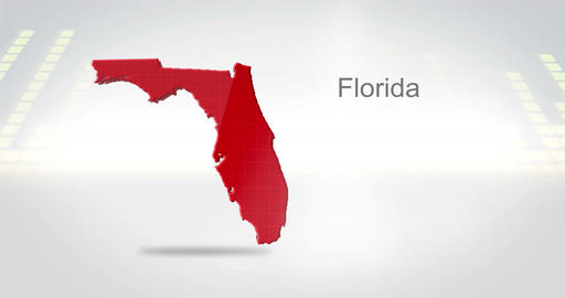 Motion Graphics 3D animation of the american state of Florida Animation