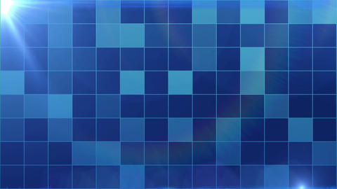 Blue Light Box Pattern Background CG動画素材