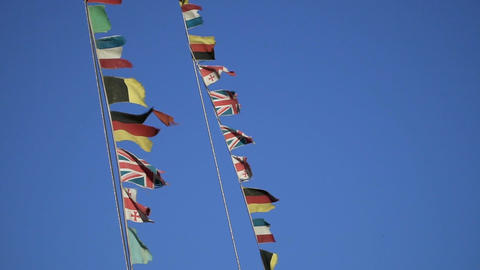 Different Country Flags Filmmaterial