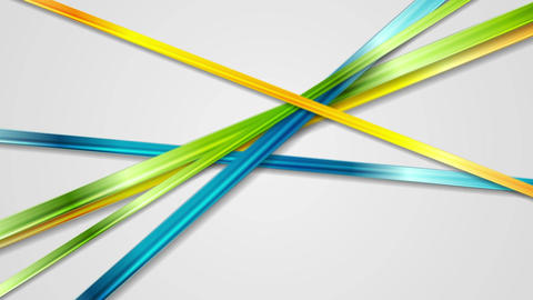 Abstract glossy multicolored stripes video animation Animation
