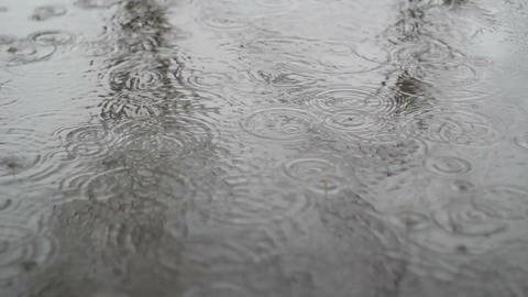 Rain Falls In City 2 Footage