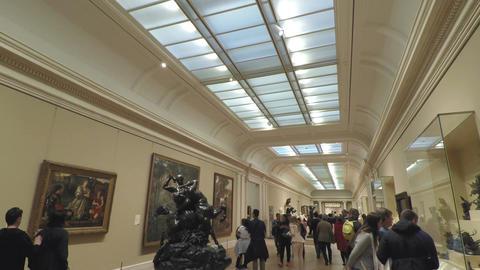 New York, USA Inside galleries of Metropolitan Museum of Art Footage