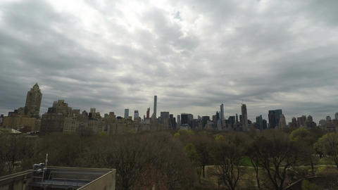 New York, USA Central Park view from rooftop of Metropolitan Museum of Art Footage