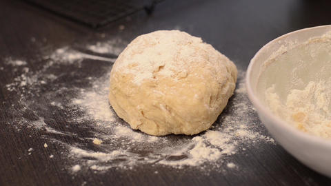 Making dough for rustic mini cakes Footage