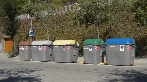 Recycling Containers Footage