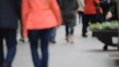 Senior Couple Walking Away Footage