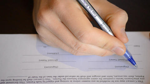 Signing A Contract Stock Video Footage