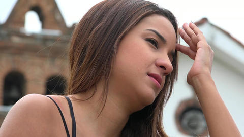 Apathetic Young Hispanic Woman Live Action