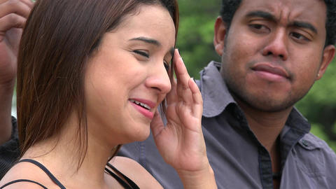Man Consoling Woman Crying Live Action