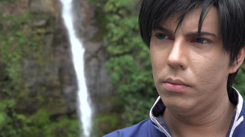 Cosplay Prince At Waterfall Live Action