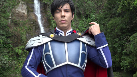 Confident Young Cosplay Prince Live Action