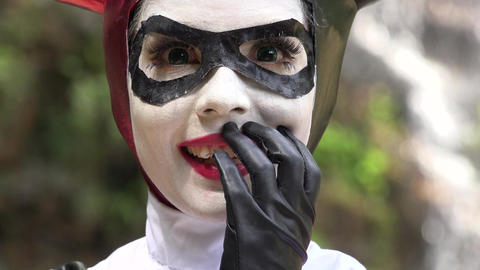 Adorable Cosplay Female Jester Live Action