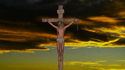 Jesus Christ on the Cross Time laps Animation