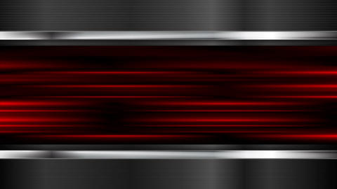 Glowing red stripes and metal elemets motion design Animation
