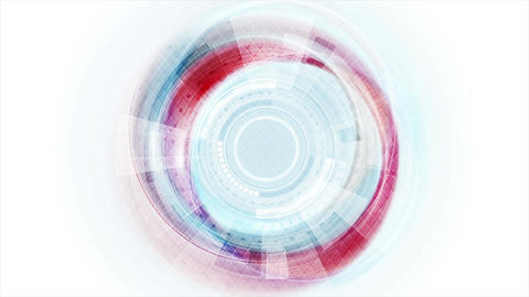 Blue and red technology sci-fi motion graphic design Animation