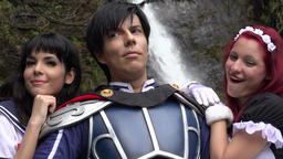 Happy People Wearing Cosplay Costumes Live Action