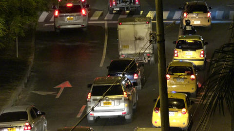 Night Automobile Road Traffic Footage
