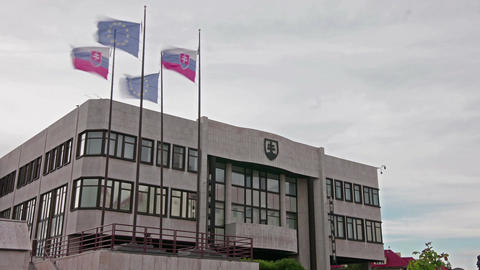 The Slovakian parliament palace in Bratislava Image