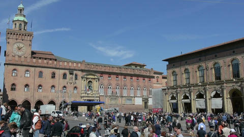 The Piazza Grande in Bologna, Italy GIF