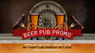 Beer pub promo Apple Motionテンプレート
