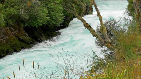 Huka Falls In New Zealand Footage