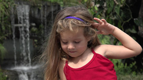 Adorable Young Toddler Girl Live Action