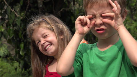 Toddlers Making Funny Faces Live Action