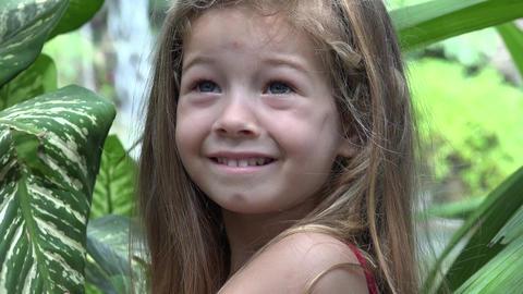Concerned Little Toddler Girl Live Action