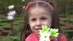 Adorable Toddler Girl Smiling Live Action