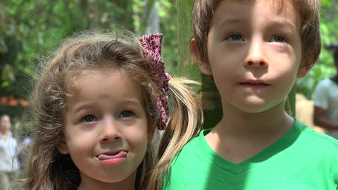 Toddler Brother And Sister Footage