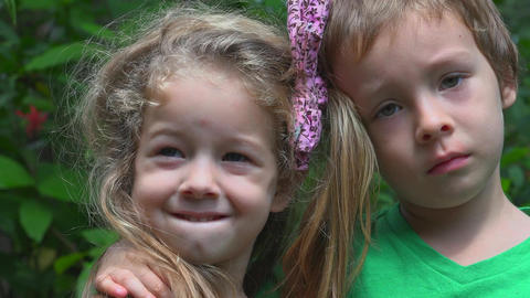 Brother And Sister Smiling Live Action