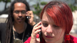 Angry Cell Phone Call Footage