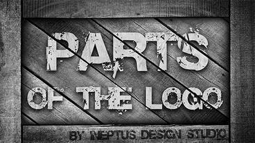 Parts of the logo Plantilla de Apple Motion