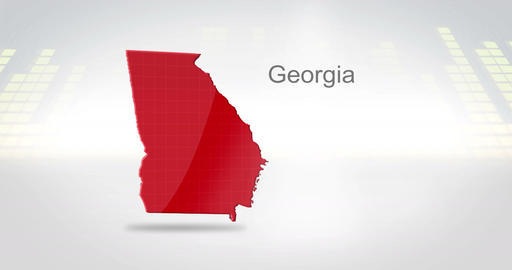 Motion Graphics 3D animation of the american state of Georgia Animation