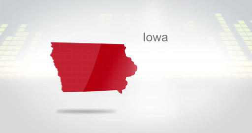 Motion Graphics 3D animation of the american state of Iowa Animation