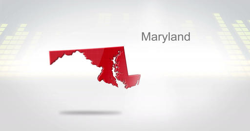 Motion Graphics 3D animation of the american state of Maryland Animation
