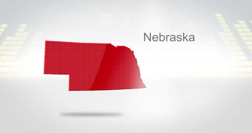 Motion Graphics 3D animation of the american state of Nebraska Animation