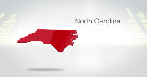 Motion Graphics 3D animation of the american state of North Carolina Animation