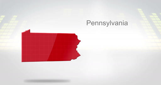 Motion Graphics 3D animation of the american state of Pennsylvania Videos animados