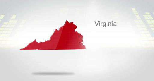 Motion Graphics 3D animation of the american state of Virginia Animation